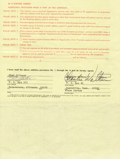CHARLIE WALKER - CONTRACT SIGNED 10/31/1972