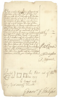 Autographs: GEORGE (EARL OF HALIFAX I, SECOND CREATION) MONTAGU - MANUSCRIPT DOCUMENT SIGNED 08/25/1716 CO-SIGNED BY: RICHARD 1ST BARON EDGCUMBE EDGCUMBE, THOMAS (BARON TORRINGTON) NEWPORT