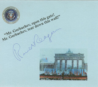 Autographs: PRESIDENT RONALD REAGAN - QUOTATION SIGNED