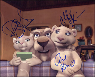FATHER OF THE PRIDE TV CAST - AUTOGRAPHED SIGNED PHOTOGRAPH CO-SIGNED BY: CARL REINER, CHERYL HINES, DANIELLE HARRIS