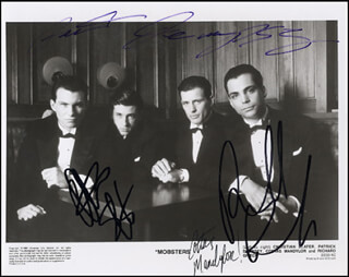 MOBSTERS MOVIE CAST - AUTOGRAPHED SIGNED PHOTOGRAPH CO-SIGNED BY: CHRISTIAN SLATER, PATRICK DEMPSEY, COSTAS MANDYLOR, RICHARD GRIECO