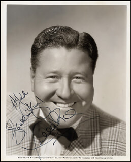 JACK OAKIE - AUTOGRAPHED INSCRIBED PHOTOGRAPH CIRCA 1945