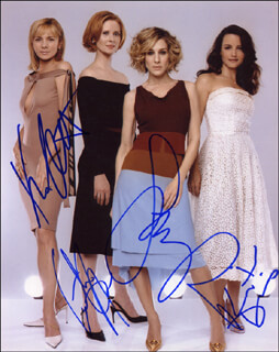 SEX AND THE CITY TV CAST - AUTOGRAPHED SIGNED PHOTOGRAPH CO-SIGNED BY: KIM CATTRALL, SARAH JESSICA PARKER, KRISTIN DAVIS, CYNTHIA NIXON