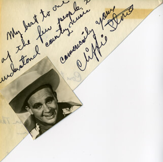 CLIFFIE STONE - AUTOGRAPH NOTE SIGNED