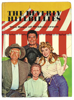 Autographs: BEVERLY HILLBILLIES TV CAST - SIGNATURE(S) CIRCA 1963 CO-SIGNED BY: MAX BAER JR., PAT BOONE, LOUIS NYE, MARK GODDARD, DONNA DOUGLAS, ROB REINER, ROY CLARK, HENRY GIBSON