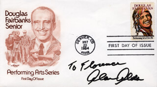 ALAN ALDA - INSCRIBED FIRST DAY COVER SIGNED