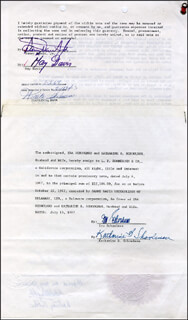 SAMMY DAVIS JR. - DOCUMENT DOUBLE SIGNED 07/06/1967 CO-SIGNED BY: MAY BRITT, FRANK J. BARRETT