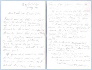 GRANDMA MOSES - AUTOGRAPH LETTER SIGNED 07/14/1938