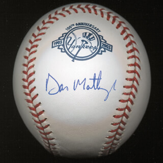 DON MATTINGLY - AUTOGRAPHED SIGNED BASEBALL