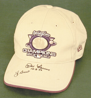 Autographs: THE NEW YORK YANKEES - HAT SIGNED CO-SIGNED BY: YOGI BERRA, DON LARSEN
