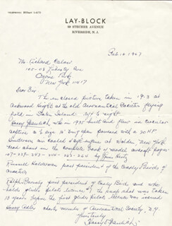 HARRY GRAULICH - AUTOGRAPH LETTER SIGNED 02/16/1967