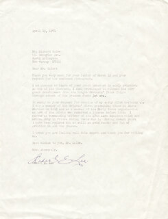 ROBERT E. LEE - TYPED LETTER SIGNED 04/15/1971