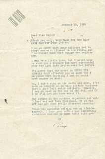 TEX RITTER - TYPED LETTER SIGNED 01/10/1938