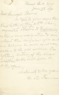 CHARLES B. TANNER - AUTOGRAPH LETTER SIGNED 01/28/1909