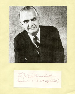 GENERAL WILLIAM C. WESTMORELAND - AUTOGRAPH
