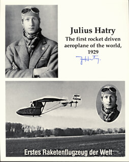 JULIUS HATRY - AUTOGRAPHED SIGNED PHOTOGRAPH