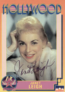 JANET LEIGH - TRADING/SPORTS CARD SIGNED CIRCA 1991