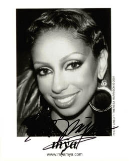 MYA - AUTOGRAPHED SIGNED PHOTOGRAPH