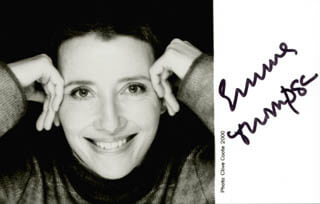 EMMA THOMPSON - AUTOGRAPHED SIGNED PHOTOGRAPH