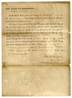 Autographs: MAJOR GENERAL MWILLIAM T. MARTIN - DOCUMENT SIGNED 07/01/1848