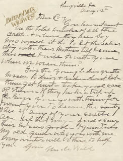 WILLIAM F. BUFFALO BILL CODY - AUTOGRAPH LETTER SIGNED 08/12