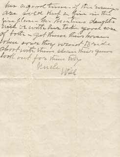 WILLIAM F. BUFFALO BILL CODY - AUTOGRAPH LETTER SIGNED 08/10