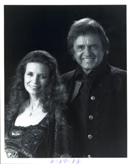 JOHNNY CASH - AUTOGRAPHED SIGNED PHOTOGRAPH CIRCA 1988