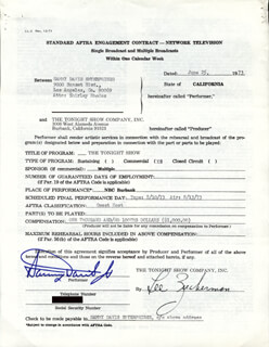 SAMMY DAVIS JR. - DOCUMENT SIGNED 06/25/1973