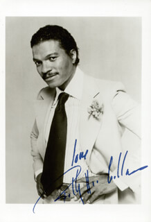 BILLY DEE WILLIAMS - AUTOGRAPHED SIGNED PHOTOGRAPH CIRCA 1982