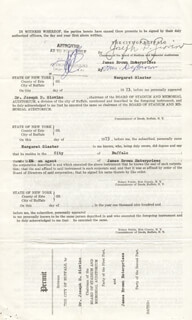 Autographs: JAMES GODFATHER OF SOUL BROWN - DOCUMENT UNSIGNED 06/17/1973