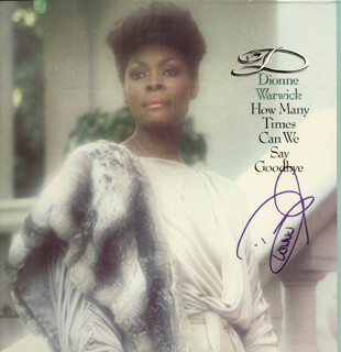 DIONNE WARWICK - RECORD ALBUM COVER SIGNED