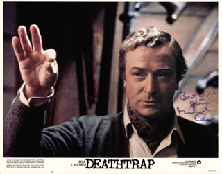 MICHAEL CAINE - INSCRIBED LOBBY CARD SIGNED