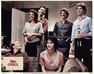 THE BIG CHILL MOVIE CAST - LOBBY CARD SIGNED CO-SIGNED BY: KEVIN KLINE, MEG TILLY