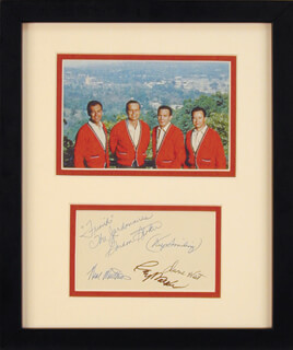 THE JORDANAIRES - AUTOGRAPH CO-SIGNED BY: THE JORDANAIRES (NEAL MATTHEWS, JR.), THE JORDANAIRES (GORDON STOKER), THE JORDANAIRES (DUANE WEST), THE JORDANAIRES (RAY WALKER)