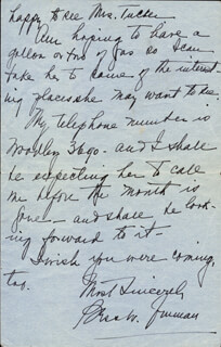 FIRST LADY BESS W. TRUMAN - AUTOGRAPH LETTER SIGNED CIRCA 1945