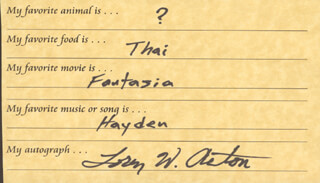 LOREN ACTON - QUESTIONNAIRE SIGNED
