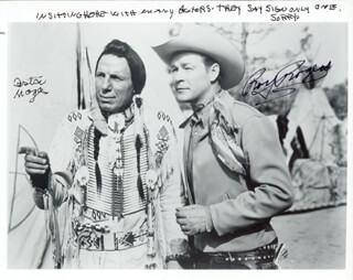 ROY ROGERS - AUTOGRAPHED SIGNED PHOTOGRAPH CO-SIGNED BY: IRON EYES CODY