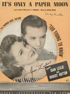 JOAN LESLIE - SHEET MUSIC SIGNED