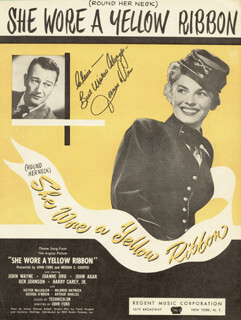 JOANNE DRU - INSCRIBED SHEET MUSIC SIGNED