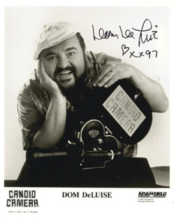 DOM DELUISE - AUTOGRAPHED SIGNED PHOTOGRAPH 1997