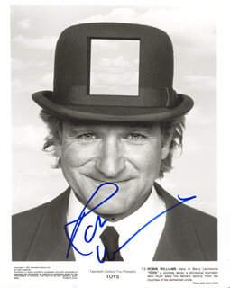 ROBIN WILLIAMS - PRINTED PHOTOGRAPH SIGNED IN INK