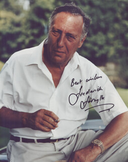 FREDERICK FORSYTH - AUTOGRAPHED SIGNED PHOTOGRAPH