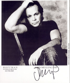 JOHN COUGAR MELLENCAMP - PRINTED PHOTOGRAPH SIGNED IN INK
