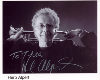 HERB ALPERT - INSCRIBED PRINTED PHOTOGRAPH SIGNED IN INK