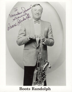 BOOTS RANDOLPH - AUTOGRAPHED INSCRIBED PHOTOGRAPH