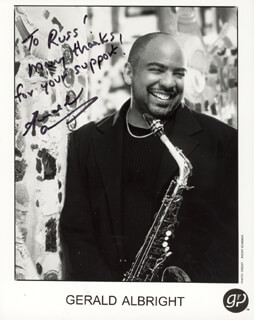 GERALD ALBRIGHT - AUTOGRAPHED INSCRIBED PHOTOGRAPH