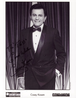 CASEY KASEM - AUTOGRAPHED INSCRIBED PHOTOGRAPH