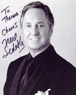 NEIL SEDAKA - AUTOGRAPHED INSCRIBED PHOTOGRAPH