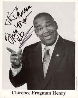 CLARENCE FROGMAN HENRY - INSCRIBED PRINTED PHOTOGRAPH SIGNED IN INK