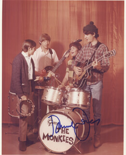 THE MONKEES (DAVY JONES) - AUTOGRAPHED SIGNED PHOTOGRAPH
